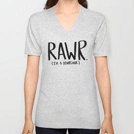 Rawr. I'm a Dinosaur Unisex V-Neck