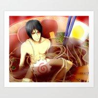 ramen Art Prints featuring Ramen by Keichou