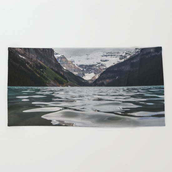 Lake Louise Mountain View Beach Towel
