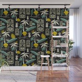 Island Tiki - Black Wall Mural