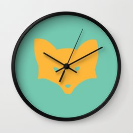 Inner Fox Wall Clock