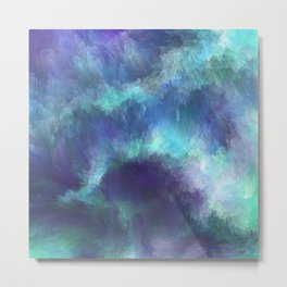 Abstract Painting - Space Nebula Storm Clouds Aurora Borealis Metal Print
