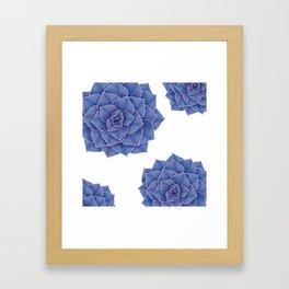Elegant Big Purple Echeveria Design Framed Art Print