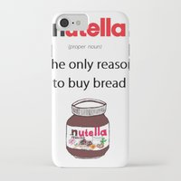 nutella iPhone & iPod Cases featuring Nutella -only reason by Lyre Aloise