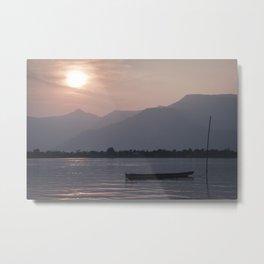 Sunset at Mekong Metal Print