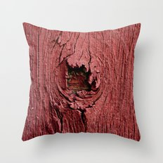 Knotty Red Throw Pillow