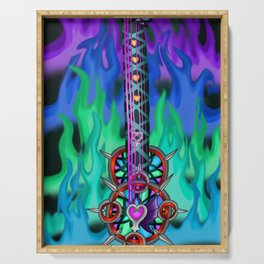 Fusion Keyblade Guitar #195 - Eternal Flame & Mirage Split Reaility Shift Serving Tray