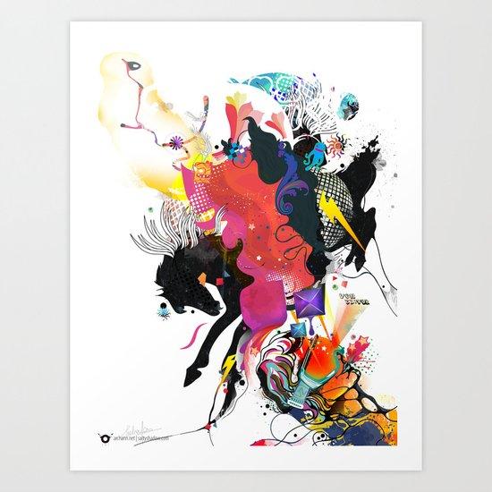 VZ Royal Ride Art Print