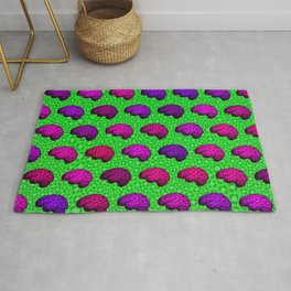 Brains And Leopard Print Rug