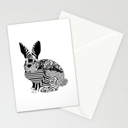 Rabbit floral Stationery Cards