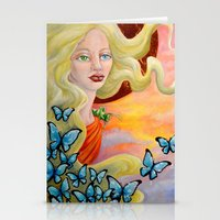 aurora Stationery Cards featuring Aurora by Amanda Shelton
