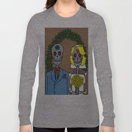 Day of the Dead Bride & Groom Portrait Long Sleeve T-shirt