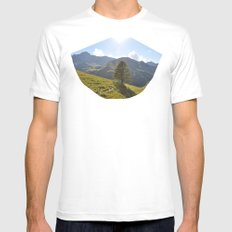 Sunny White Mens Fitted Tee MEDIUM