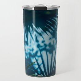 Blue Palm Tree Window Travel Mug