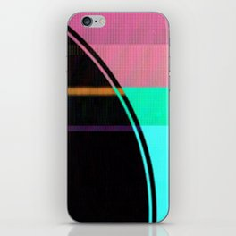 Glitch Circle iPhone Skin