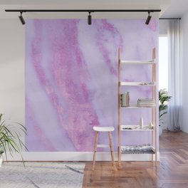 Pink Marble - Shimmery Magenta Gold Marble Metallic Wall Mural