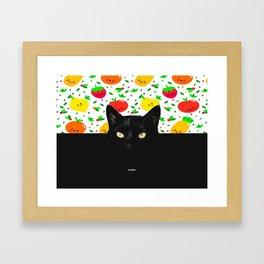 Big Black Cat Framed Art Print
