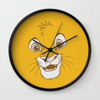 simba Wall Clocks featuring Simba  by Luxatr