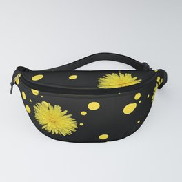 Yellow Dots and Dandelions Fanny Pack