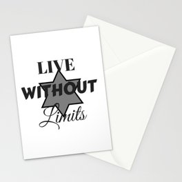 Vive sin límites | Live without limits Stationery Cards