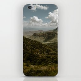 Cloudy Vibrant Mountaintop View in Big Bend - Lost Mine Trail iPhone Skin