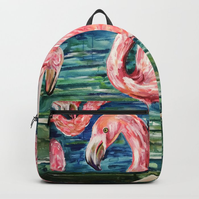 Flamingo Party Pink and Tropical Backpack