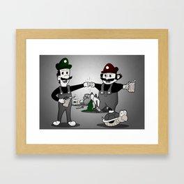 Super Smash'd Bros. Framed Art Print