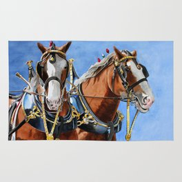 Clydesdales Rug
