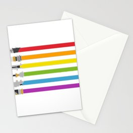 Lightsaber Rainbow Stationery Cards