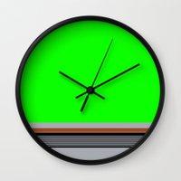 luke hemmings Wall Clocks featuring Luke by Jake Bjeldanes