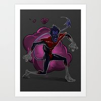 nightcrawler Art Prints featuring Nightcrawler by Ashton Johnson