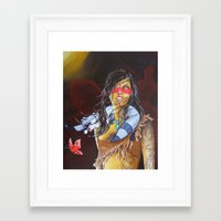 pocahontas Framed Art Prints featuring pocahontas by marmaseo