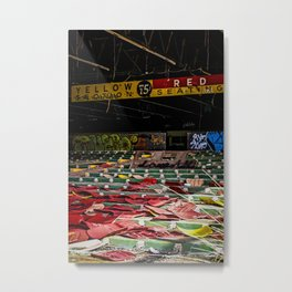 Abandoned Dog Track Metal Print