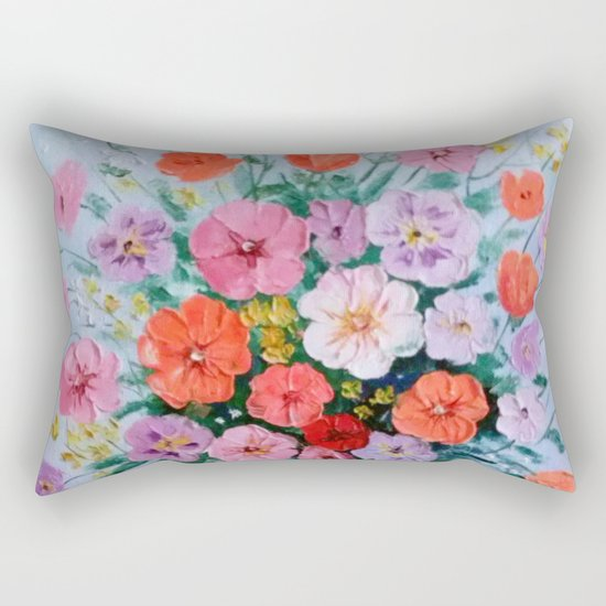 Bouquet of meadow flowers Rectangular Pillow