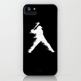 Baseball Batter Illustration iPhone Case