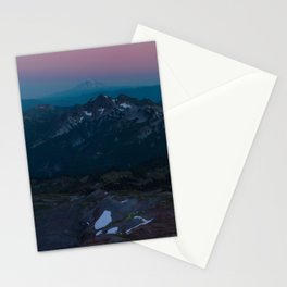Magenta Cyan Sunset Paradise Stationery Cards