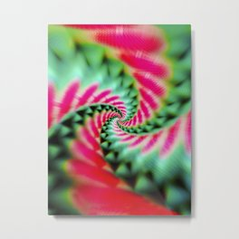 Cosmic Watermelon Swirl Metal Print