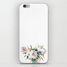 White Peonies, Asian Watercolor design Garden Peonies White lofral art iPhone Skin