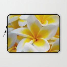 Frangipani halo of flowers Laptop Sleeve