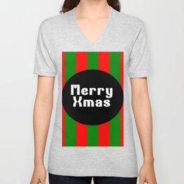 merry Xmas funny logo pattern Unisex V-Neck