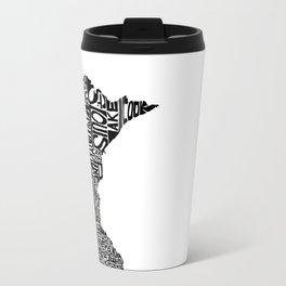 Typographic Minnesota Travel Mug
