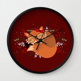 Renarde de Noël Wall Clock