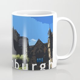 Edinburgh Castle in digital Coffee Mug