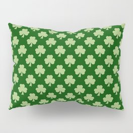 Shamrock Clover Polka dots St. Patrick's Day green pattern Pillow Sham