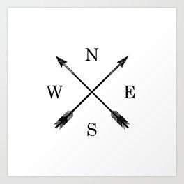 Arrows NSEW Art Print