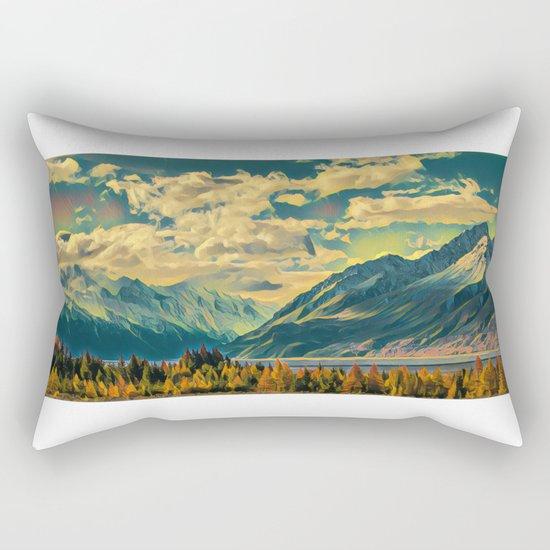 Cabin View Wilderness Rectangular Pillow