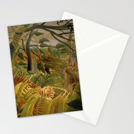 """Henri Rousseau """"Tiger in a Tropical Storm (Surprised!)"""", 1891 Stationery Cards"""