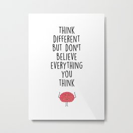Think different – modern illustration Metal Print