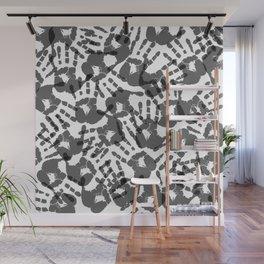 Hand Print Halloween Wall Mural
