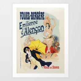 Folies Bergère 1893 Emilienne d'Alencon Art Print